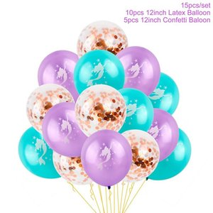 fengrise 라텍스 호 일 인어 풍선 생일 축하 파티 풍선 인어 baloons 생일 ballons 장식 생일 결혼식 jllheo