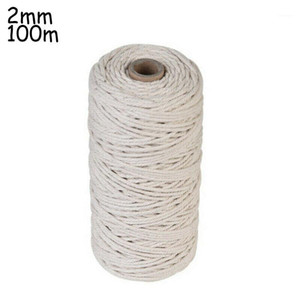 1 Roll Of Cotton Rope Natural Beige Cotton Twisted Cord Rope Artisan Macrame String DIY Craft Supplies1