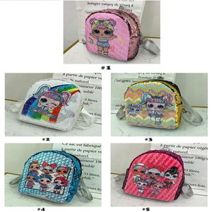 Sequin Kids Toys lol dolls Backpack girls cartoon storage bags Backpacks hop-pocket christmas gifts bags LOL toy