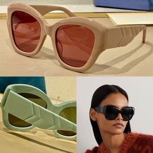 New product popular design sunglasses 0808 charming cat eye color big frame special design temples woman fashion style TOP quality