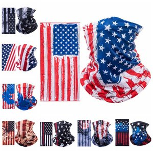 Sports Mask Cycling Breathing Protective Face Mask America Flag Masks Scarf Bicycle Half Face Cover Design Face Shield Head Scarf