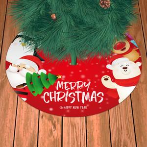 90cm Plaid Printed Tree Skirts Christmas Ornament Face Mask Family Creative Xmas Tree Bottom home xmas party Decor YYB2553