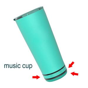 Yeni 18 oz Hoparlör Kupası Açık Taşınabilir Su Geçirmez Loud Hoparlör Cam Bira Kahve Kupa Bt Müzik USB Şarj Kapaklı Tumbler