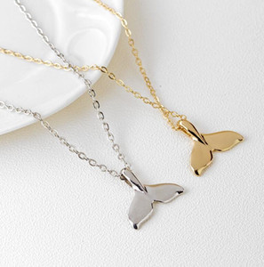 New Fashion Women Charm Vintage Whale Tail Pendant Necklace Lovely Chain Jewelry Party Gift Free Shipping