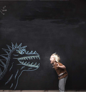 السبورة الجدار ملصقات السبورة الأسود الطباشير مجلس ملصق البسيطة المحمولة صائق قشر عصا على ورق الحائط للأطفال الأطفال 45x200 سنتيمتر