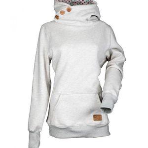 New Autumn Hooded Sweatshirt Oversize Women Black Slim Pullover with Pocket Jumper Top Warm Hoodies Femme Solid Outwear 2020