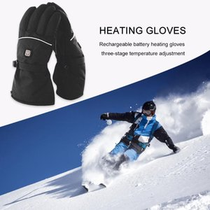 Nylon Electric Heated Gloves Winter Windproof Touch Screen Gloves Waterproof Cycling Skiing Snowboarding Motor
