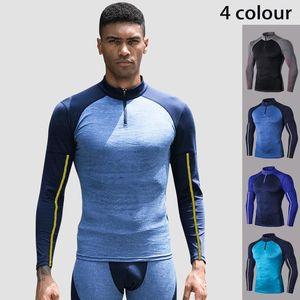 Lovmove hombre manga larga camuflaje pro apretado spandex o-cuello camisa fitness ropa deportiva correr camiseta culturismo ropa de gimnasio