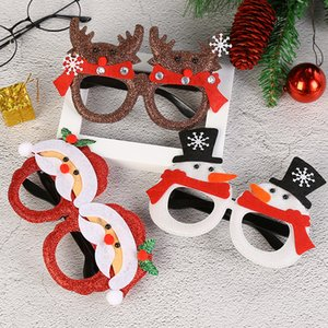 Claus Snowman Deer Shape Sunglasses Christmas Funny Glasses Novelty Cosplay Costume Christmas Birthday Festival Decoration Party Props