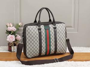 Laptop Computer Bags Fashion Male Luxury Designer Business Set Business briefase for Man High Quality Designer Bag PU leather Briefcase C33