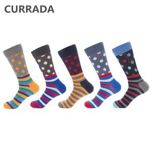 5pairs lot 2020 New Arrival Mens Happy Socks Quality Combed Cotton colorful Funny Sock fashion Casual Men's compression socks