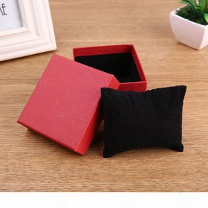 Wholesale Cardboard Watch Box paper Fashion Black Blue Red Watch Gift Case Rectangle Watch Storage Boxes Case Package