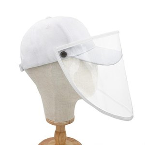 Fashion Adult Children Sunscreen Hat Removable Clear Cover Anti-Saliva Baseball Cap Safety Solid Color Simple Sun Hat