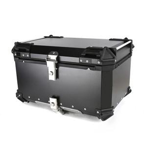 55L 65L Универсальный мотоцикл задний багажник алюминиевый алюминиевый багажник корпус мото инструмент коробка водонепроницаемый шлем ключевой замок хвостовой панели инструментов