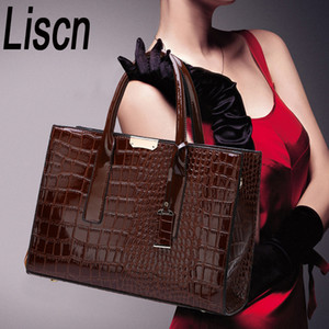 LISM Hot Sale! PU Leather Shoulder Bag Elegant Luxury OL Lady Crocodile handbag messager Fashion Bags Q1118