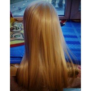 Manichini professionali Styling Head Capelli lunghi Parrucca per capelli per parrucchieri Training Head Fiber Manneq SQCXKJ BDeHair