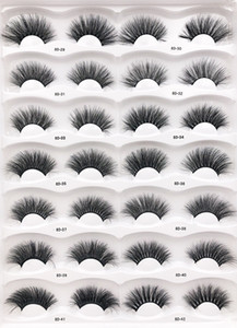 8D 25mm Mink Eyelashes 14 styles Eye makeup Mink False lashes Soft Natural Thick Fake Eyelashes 3D Eye Lashes Extension Beauty Tools DHL