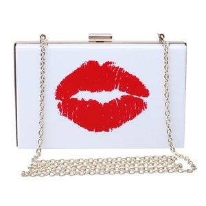 2020 new female acrylic small square handbag women personality chain bag lady's banquet clutch purse girls shoulder evening bag