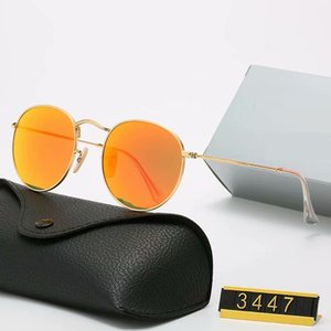 Design Ray Metal Women Men Sunglasses Polarized 3447 Sunglasses UV400 Pilot Bans GOOD Luxury QUAlity Polaroid Lens Eyewear Glasses Fram Knnw