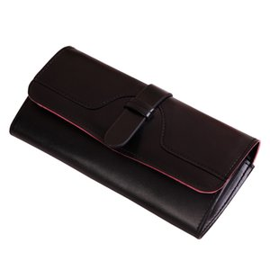 Women's Coin Purses Women Long Wallets Solid Cover Wallet Lady Pu Leather Credit Card Holders Travel Clutch Purse Phone Pack