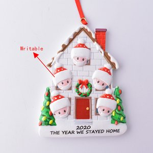 New Ornament DIY Family Quarantine Birthday Party Pandemic Survivor Santa Claus Christmas Tree Resin Pendant DHB1946