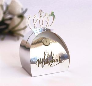 Scatola di carta del festival del Ramadan musulmano Scatola di carta islamica Eid Mubarak Carta da sposa Candy Regalo Case Case Hollow Laser Candy Box HHD4748
