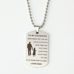 To my Daughter Dog Tag Stainless Steel Necklace and Keychain -Your Own Logo Picture Free
