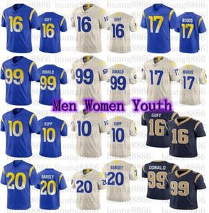 2020 nouveaux hommes femmes jeunesse 99 Aaron Donald 16 Jared Goff 10 Cooper Kupper Robert Woods Jalen Ramsey Jerseys