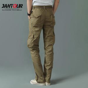 Jantour Mens Cargo Pants Elastic Multiple Pocket Male Trousers Outdoor Joggers Pant Joggers Trousers Harajuku Men Pant