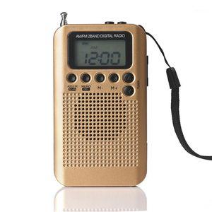 "HRD-104 Tragbare AM / FM-Stereo-Radio-Tasche 2-Band-Digital-Tuning-Radio-Mini-Empfänger mit Kopfhörer Lanyard 1.3 ""LCD-Display-Bildschirm1"