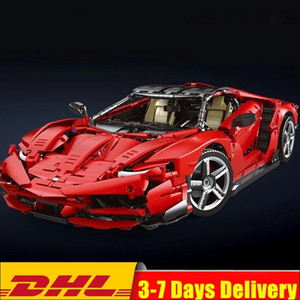 New 3874 PCS K1-1B Technic Series Red Lamborghining Centenario 1:8 hypercar Bricks Super Racing Sport Car Model Building Blocks J1204