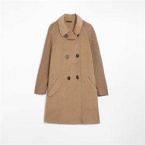 Mozuleva Double Sided Cashmere Coat Medium Length 2020 New Style Winter Woolen Coat Female Lapel Neck coat