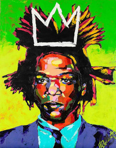 Jean Michel Basquiat art decor Portrait Handpainted &HD Print Oil Painting On Canvas Wall Art Canvas Pictures ,EM51