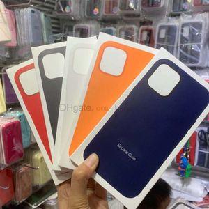 Custodia in silicone del venditore Top per 12 mini Pro Max Full Edge Molle Phone Mobile Copertina di copertura posteriore con scatola al minuto