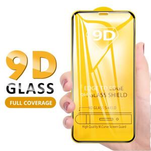 Новый 9D полный крышка экран защитник для 2020 iPhone 12 11 Pro Max XS MAX XR закаленного стекла для пленки для защиты от Xiaomi
