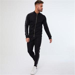 Mens Slipe спортивные наборы моды Trend Trend с длинным рукавом молния куртка брюки костюмы дизайнер человек пружина новая тонкая повседневная фитнес бегущий трексеи