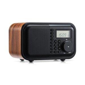 K531 Wireless Wooden Bluetooth Audio Radio USB Card Speaker Portable MP3 Music Player Retro Subwoofer Timing Alarm Clock
