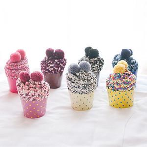 Calcetines de pastel de la taza de la moda Coral Cashmere Calcetín de algodón Invierno Suave calientes Calcetín Regalos de Navidad Calcetines de la toalla Calcetines de barco 9 colores M3153