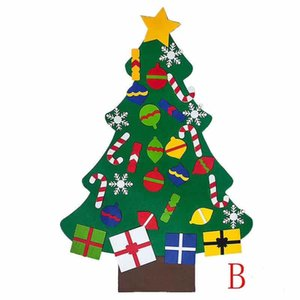 2020 New DIY Felt Christmas Tree Decorations Kids Gifts Xmas Tree Door Wall Hanging Ornaments Artificial Tree for Home Decor 2021