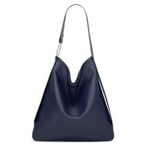 Women's Handbag New Solid Color Soft Surface Magnetic Button Litchi Grain Large Capacity One Shoulder Tote Bag Shopping Bag