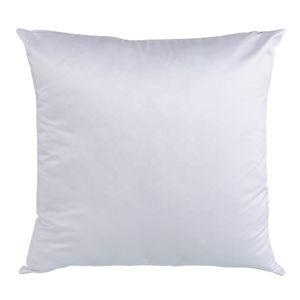 100pcs lot Free Shipping Squre Shape Sublimation White Pillow Case Decorative Printable Heat Press Cushion Cover