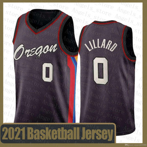 Damian 0 Lillard PortlandSenderoBlazer Baloncesto Jersey 2020 2021 New Blazer LeBron 23 James Stephen 30 Curry Jayson 0 Tatum