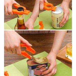 3 en 1 abrelatas de la botella naranja Inicio y Restaurante Personalidad Plastic Bottle Apers Botters Can Destornillador Herramientas de cocina XD24337