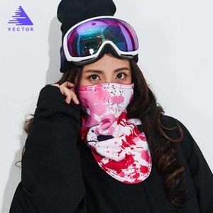 Vector la maschera per il viso per gli sci per adulti e bambini