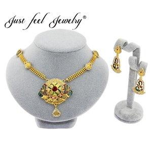 Simplemente sentir el color de oro Dubai Jewelry Sets Decoraciones para las mujeres Peacock Crystal Jewelry Set Necklace y pendientes Brinco