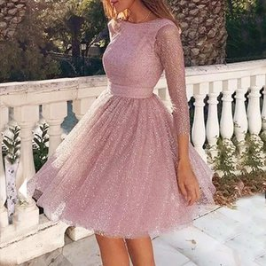 Mesh Sexy Party Dress Women Sling Cross Wedding Open Back Dresses O neck Elegant Party Slim Hollow Lace Dress Sukienki guahao