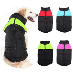 4 Colors Pet Clothes For Small Medium Large Dogs Vest Winter Warm Waterproof Dog Coat Jackets S-5XL