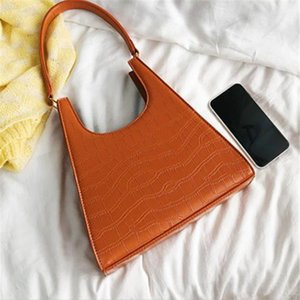 Women Handbag Retro Alligator Subaxillary Bag Vintage Small Triangle Handbags Female Luxury Crocodile Shoulder Bag