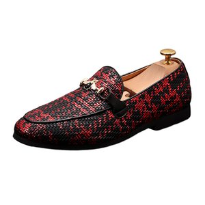 Men's Shoes Luxury Casual Driving Oxfords Flats wedding dress shoes Breathable Italian for Men 37-621
