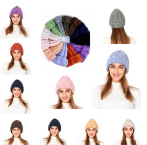 Women's Winter Hat Fashion Korean Japanese Knitted Hats Casual Warm Cap Woollen Outdoor Hats For Men Women Travel Ski Beanie Cap WMQ08